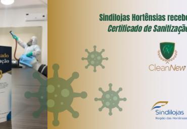 Sindilojas Hortênsias recebe Certificado de Sanitização