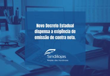 Novo Decreto Estadual dispensa a exigência de emissão de contra nota