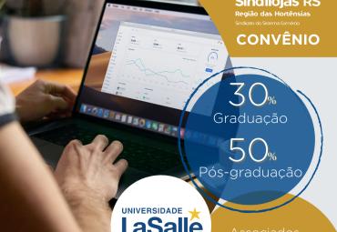 Sindilojas fecha parceria com UniLaSalle